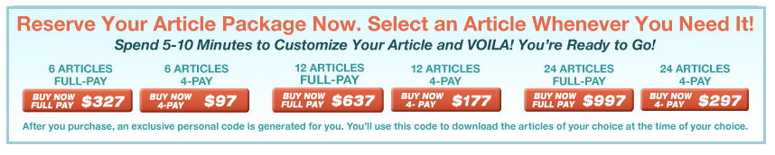 Buy your article package now. Select an article whenever you need it.